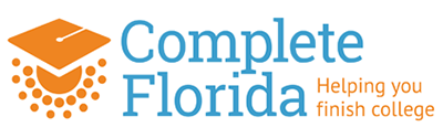 The Complete Florida Logo with tagline that reads helping you finish college